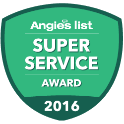 Image of Angie's List 2016 Super Service Award badge