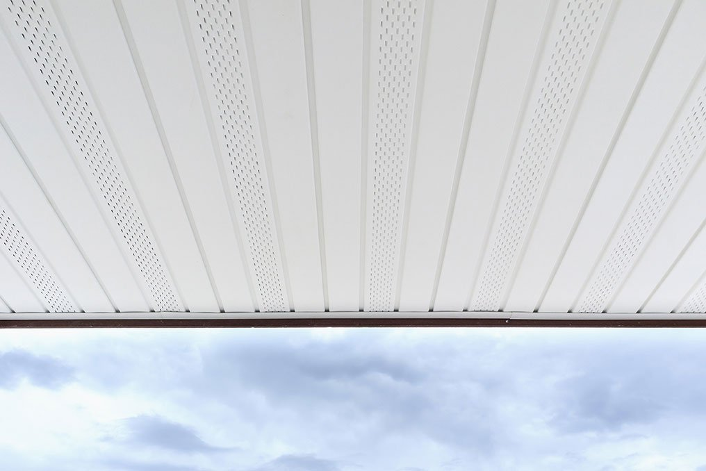 Underside of awning and gutters